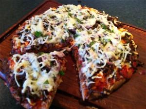 Økologisk pizza bolognese